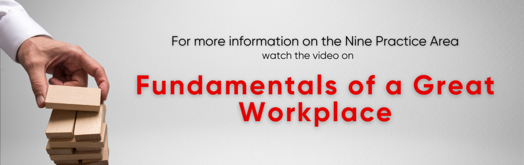 Fundamentals of a Great Workplaces